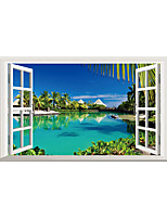 Wall Stickers Wall Decals Lakeside Scenery PVC Wall Stickers