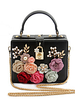 L.WEST Woman Fashion Luxury High-grade Flowers Evening Bag