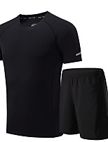 Men's Running T-Shirt Short Sleeves Moisture Wicking Quick Dry Breathable Clothing Suits for Running/Jogging Exercise & Fitness Loose