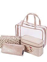 Women Storage Bag PVC All Seasons Casual Baguette Zipper khaki