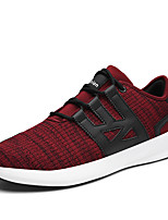 Men's Sneakers Comfort Fall Winter Tulle Athletic Casual Outdoor Gore Flat Heel Black Gray Ruby Flat