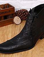 Unissex Botas Botas Cowboy/Country Botas de Montaria Botas da Moda Botas de Moto Curta/Ankle Coturnos Sapatos formais Pele NapaOutono