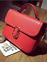 Women Shoulder Bag PU All Seasons Casual Outdoor Square Zipper Red Black Green