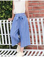 Pantaloni Da ragazza Cotone Rigato Estate