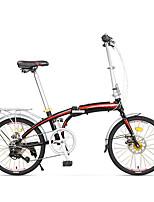 Folding Bike Cycling 7 Speed 20 Inch SHIMANO Double Disc Brake Non-Damping Aluminium Alloy Frame Folding Ordinary/Standard Anti-slip