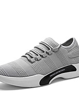 Men's Sneakers Comfort Spring Summer Fall Winter Tulle Walking Shoes Casual Party & Evening Outdoor Lace-up Flat Heel White Black Gray