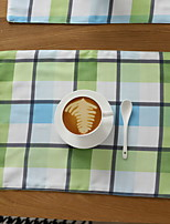 Japanese Simple Waterproof Rectangular Cotton And Linen Table Placemat 32*45cm