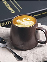 Porcelain Kiln Coffee Cup Mugs Outlet Exports Ceramic Fountain Tail Single Milk Cup With Spoon