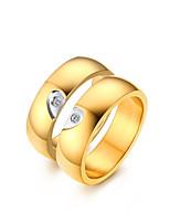 Для пары Кольца для пар Цирконий Elegant Простой стиль Классика Цирконий Титановая сталь В форме сердца Бижутерия НазначениеСвадьба Для
