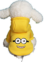 Dog Hoodie Dog Clothes Casual/Daily Cartoon White/Black Light Blue Yellow