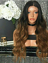 Ombre Color Body Wave Lace Front Human Hair Wigs with Baby Hair 130% Density Brazilian Virgin Hair Glueless Lace Wig for Woman
