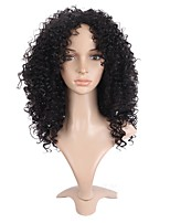 Short Afro Curly Wigs For African American Black Color Heat Resistant Synthetic Wigs For Black Women
