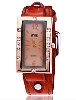 Муж. Модные часы Часы-браслет Уникальный творческий часы Повседневные часы Имитационная Четырехугольник Часы Китайский Кварцевый Кожа