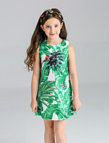 Girl's Floral Dress,Cotton Spring Summer Sleeveless