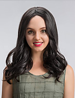 Lovely Charming  Black Color Long Wave  Synthetic Wigs