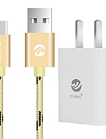 USB 2.0 Cable, USB 2.0 to USB 2.0 Tipo C Cable Macho - Macho 1,0 m (3 pies)