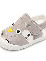 Girls' Sandals Comfort First Walkers Summer Pigskin Casual Gray Yellow Army Green Flat