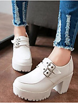 Women's Shoes PU Summer Comfort Heels For Casual White Black Yellow