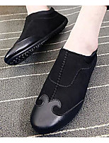 Men's Loafers & Slip-Ons Comfort Summer Nubuck leather Casual Black Gray Ruby Flat