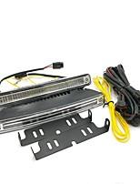 1set alta qualidade super luz e4 led drl varredura de varredura integrada 60w cor dupla (branco / âmbar)