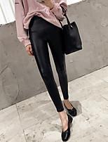 Mujer Sólido Un Color Legging