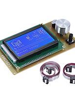 12864 lcd интеллектуальный экранный модуль контроллера экрана с кабелем для рампы 1.4 arduino mega pololu shield arduino reprap комплект