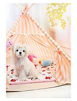 Dog Bed Pet Baskets Orange Light Blue
