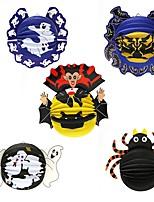 1PC Festival Decoration Halloween Paper Pendant Lantern Ornaments Spider Bats Props Haunted Houses Bar Parties Random style