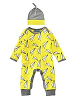 Baby Romper Print One-Pieces Cotton Spring/Fall Winter Long Sleeve Paper Plane Newborn Jumpsuits Infant Bodysuits
