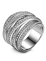 Men's Women's Cubic Zirconia Geometric Fashion Bohemian Double Sided Multi Layer Zircon Silver Plated Jewelry For Gift Daily Formal Date
