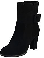 Femme Bottes Confort Bottes à la Mode boîtes de Combat Vrai cuir Cuir Automne Hiver Décontracté Boucle Noir Gris Plat