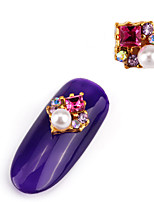 2PCS  Alloy Inlay Jewel Nail Art Decoration