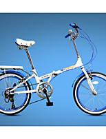 Складные велосипеды Велоспорт 7 Скорость 20 дюймы Yinxing Векторный ободной тормоз Без амортизации Стальная рама Углерод Складной Складной