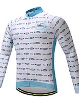 Long Sleeves Bike Tops Quick Dry High Elasticity Lightweight Breathability Spandex Polyester Autumn Spring