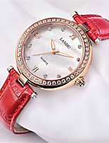 Women's Fashion Watch Japanese Quartz Water Resistant / Water Proof Genuine Leather Band Red