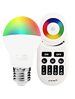 E27 6W 2.4GHz RGB White Light Promise Dimming Phone-Wifi Control Wireless Remote Control Smart Bulb AC85 - 265V with Remote Control