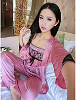 Pyjama Dentelle Soie Glacée Femme