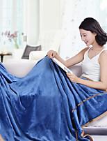 Коралловый флис Сплошной цвет Полиэфир/хлопок одеяла