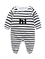 Baby Stripes Others One-Pieces,100%Cotton Autumn/Fall Spring Long Sleeve
