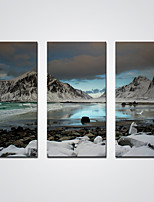 Canvas Print Snow Mountain and A Lake Landscape Picture Print on Canvas Decoration Ready to Hang