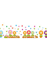 Wall Stickers Wall Decas Style Cartoon Flower Fence PVC Wall Stickers