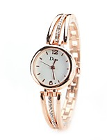 Mulheres Relógio Elegante Relógio de Moda Relógio de Pulso Simulado Diamante Relógio Chinês Quartzo imitação de diamante Lega Banda