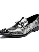 Hombre Zapatos de taco bajo y Slip-Ons Innovador Primavera Verano Otoño Invierno Cuero Patentado Cuero Casual Fiesta y Noche Punta