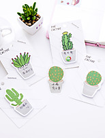 1 PC Cactus Self-Stick Notes 30 Page(Random Color)