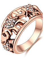 Settings Ring Women's Men's Luxury Euramerican Fashion Noble Elephant 2 Colors Business Movie Gift Statement Jewelry