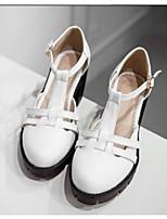Damen Schuhe PU Sommer Komfort High Heels Für Normal Weiß Schwarz