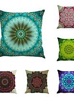 Set Of 6 Sandbeach Bohemia Style Flowers Pillow Case Classic Printing Pillow Cover