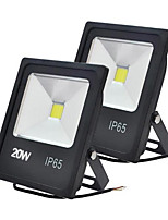 Jiawen 2pcs 20W 2000LM Cool White or Warm White LED Flood Lights Waterproof IP65 for Outdoor Lighting (AC 85-265V)
