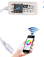 Updated Wifi Wireless LED Controller for RGB LED Strip LightsWork with Android/IOS Mobile Phone16 Million Colors 20 Dynamic Modes Support Sound