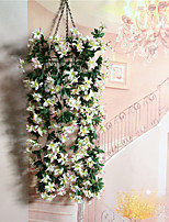 Emulation flower violet hang the flower hanging basket flower hanging basket flower living room balcony home decoration flower